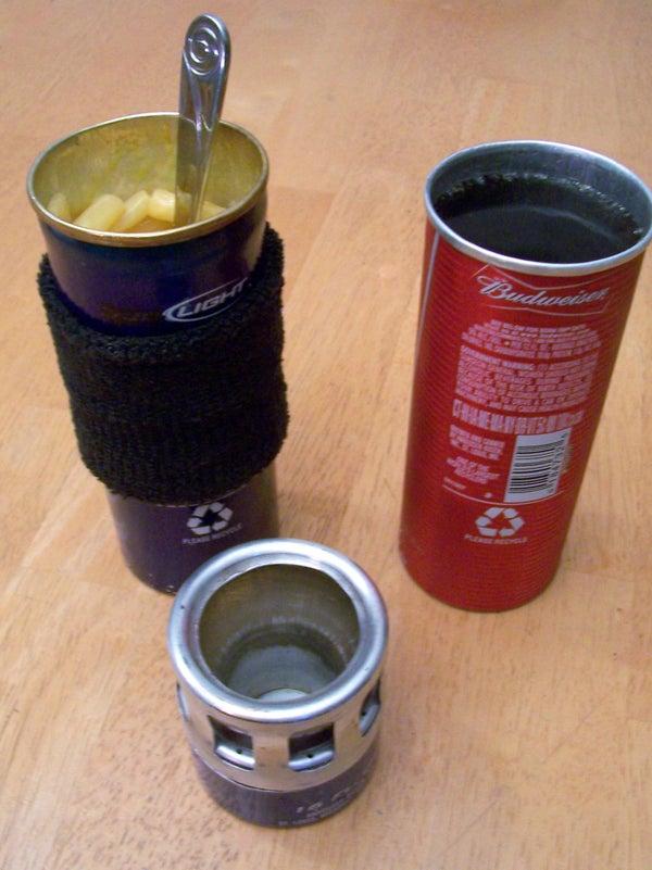 Aluminum Bottle Tumbler Cup & Cook Pot for an Alcohol Stove