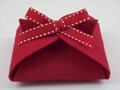 Folded Felt Gift Box