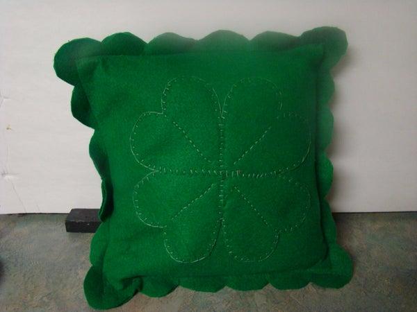 How to Make a Four Leaf Clover Pillow