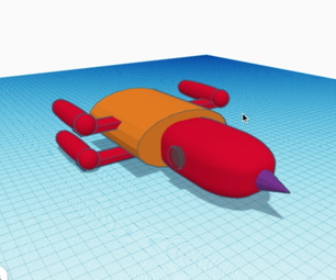 Space Ship (TinkerCAD)