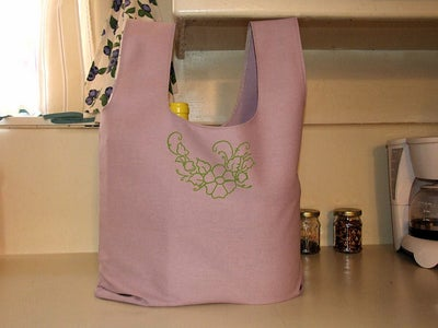 Sew or Serge an Easy Market Tote