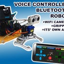 Voice Controlled Arduino Robot + Wifi Camera + Gripper + APP & Manual Usage & Obstacle Avoiding Mode (KureBas Ver 2.0)