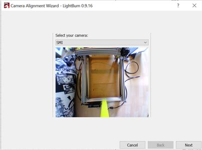 Calibrate Camera Alignment