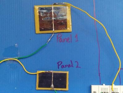 The Solar Panel Generates a Maximum Voltage of 2.02 V As Per Observations.