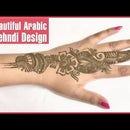 Beautiful Arabic Mehndi Design For Henna Lovers