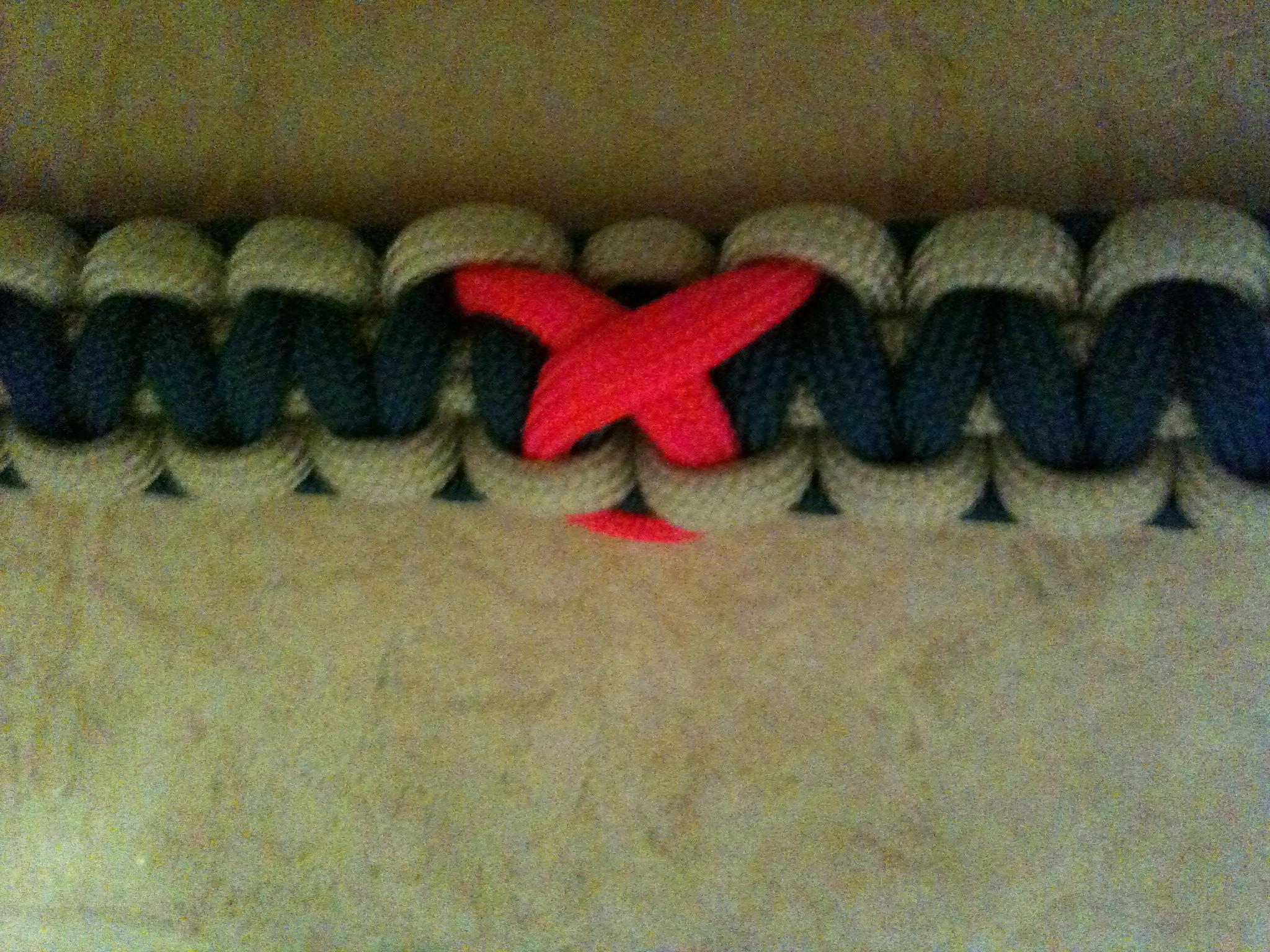 Awareness symbol on paracord bracelet