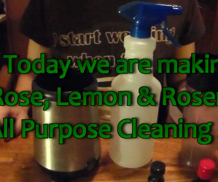 How to Make a Rose Lemon Rosemary All Purpose Herbal Cleaner