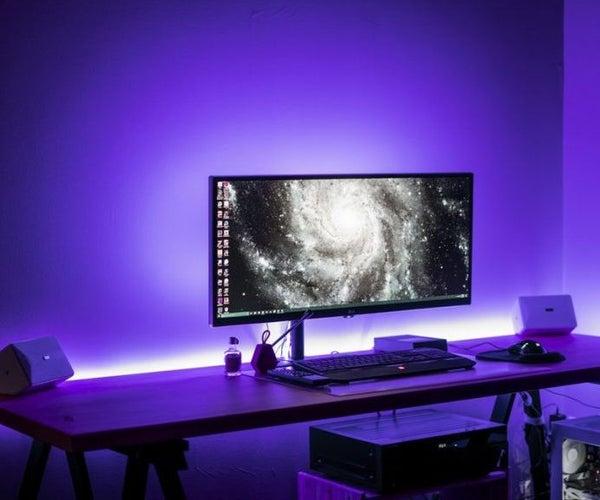 Music Reactive LED Strip (Modern Workspace)