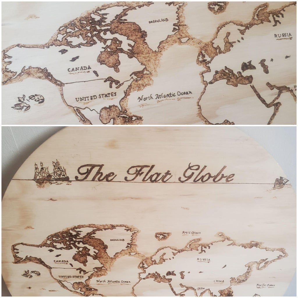 How to Use Pyrography Machine to Burn Map Onto Wood