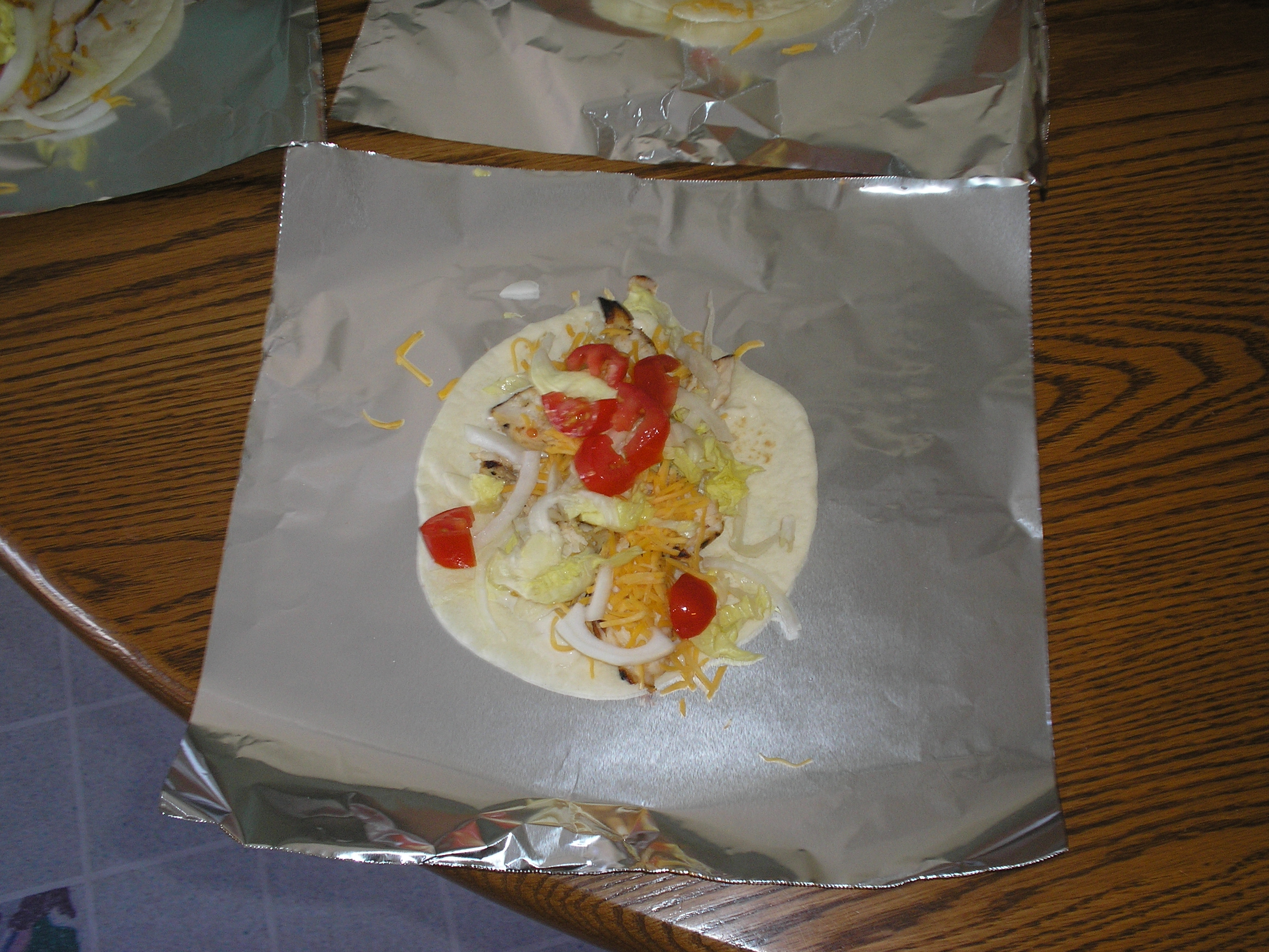 Chicken Caesar Salad Wrap To Go