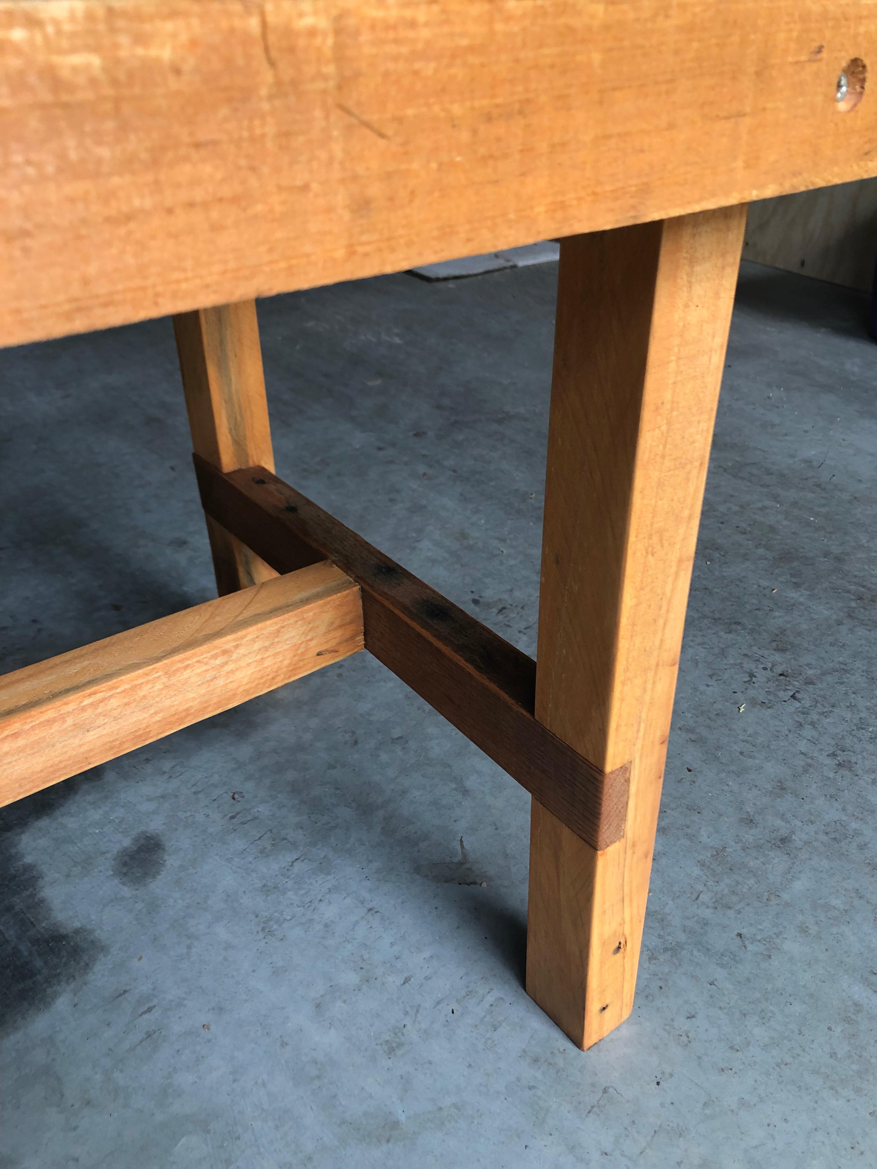 Reclaimed Pallet Wood Herringbone Outdoor Bench