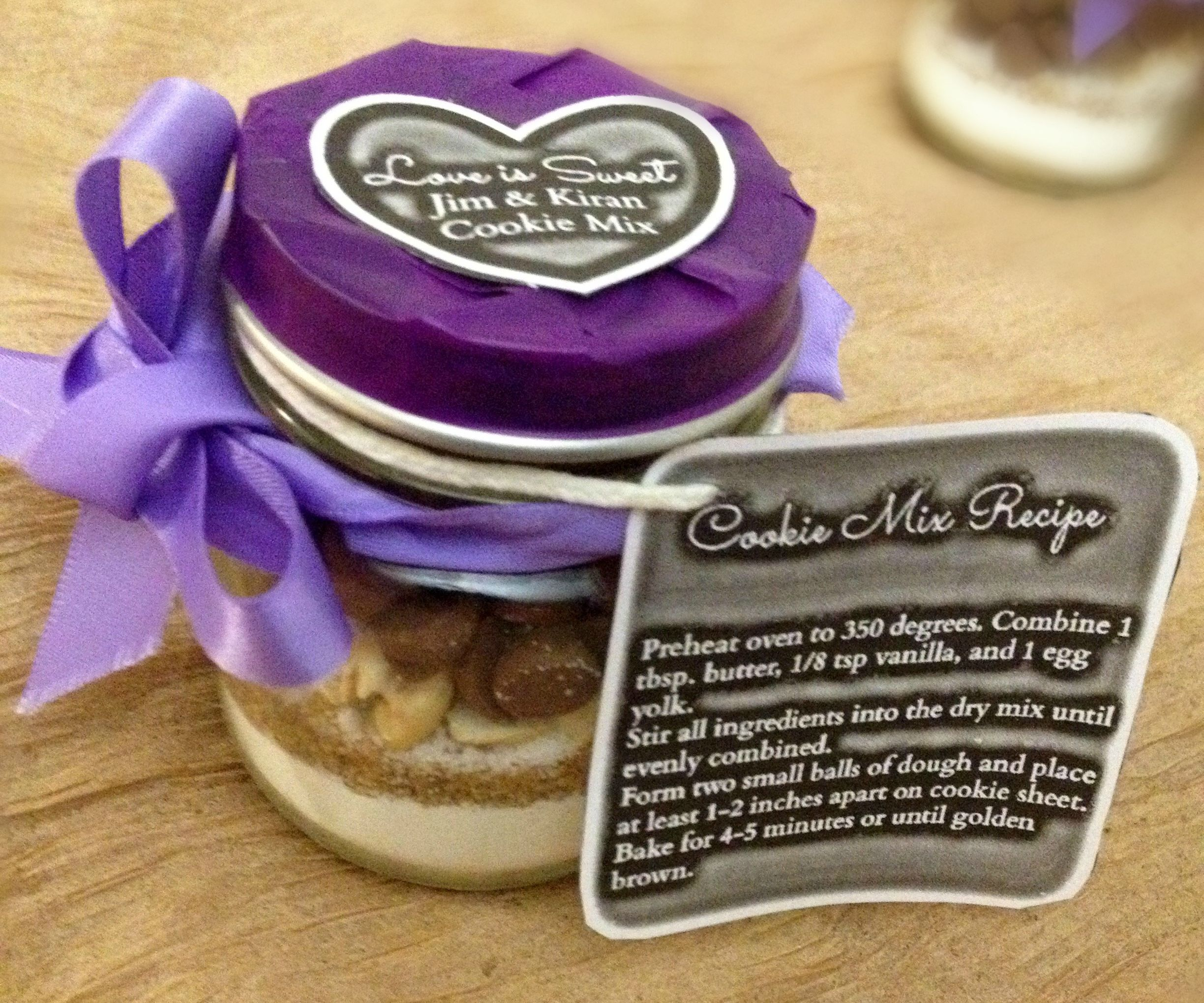 DIY Mason Jar Cookie Mix Wedding Favor