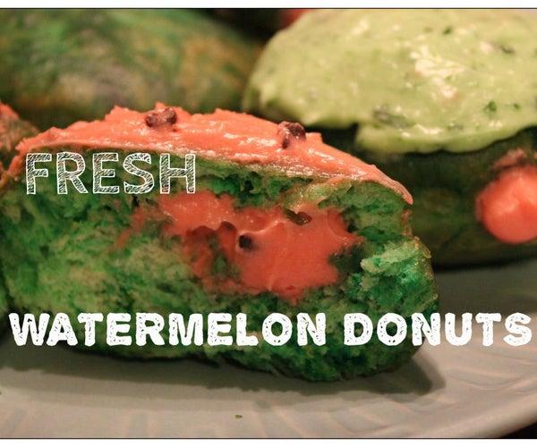 Fresh Watermelon Donuts