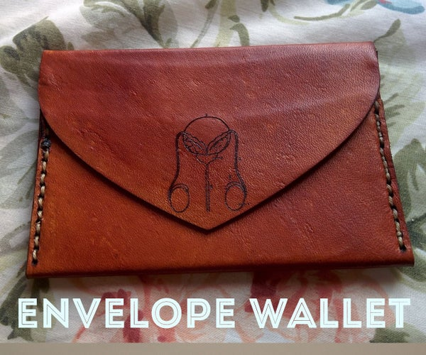 Leather Envelope-shaped Wallet