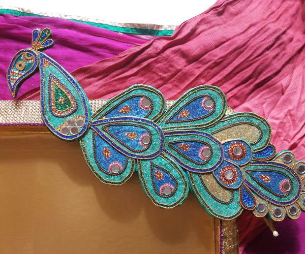 Corrugated Paper Sheet Peacock With a Bling !