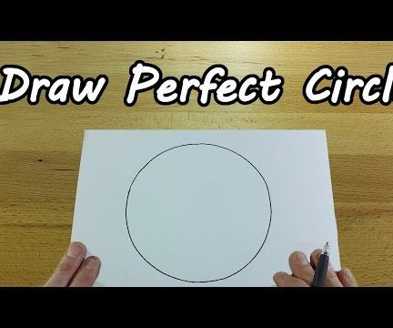 How to Draw a Perfect Circle ? (freehand)