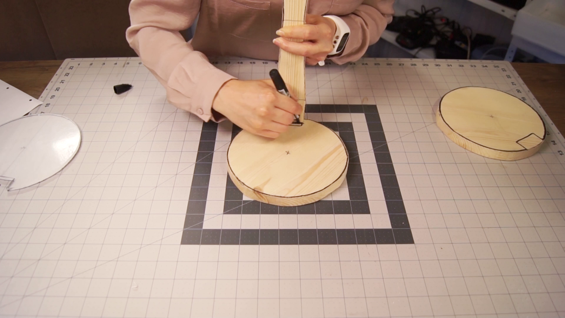 Cut Out the Slots on the Wooden Pieces
