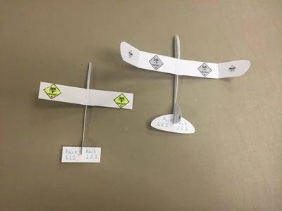 Paper Glider Using Silhouette