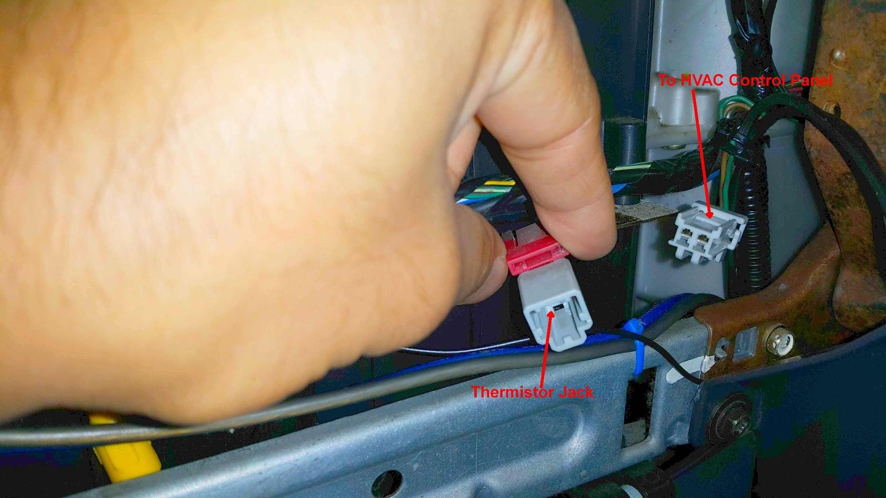 Locating the Temperature Sensor.