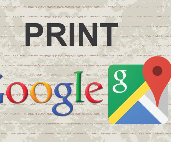 Print Google Maps