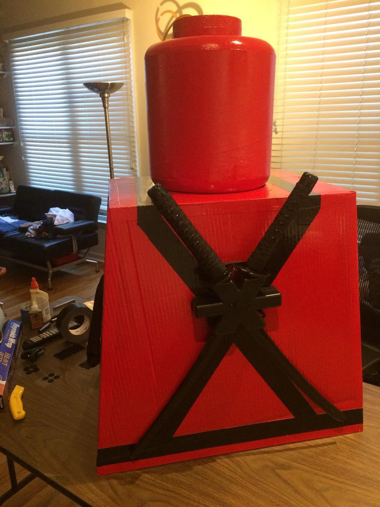 Use the Black Duct Tape to Make a Harness/holster.
