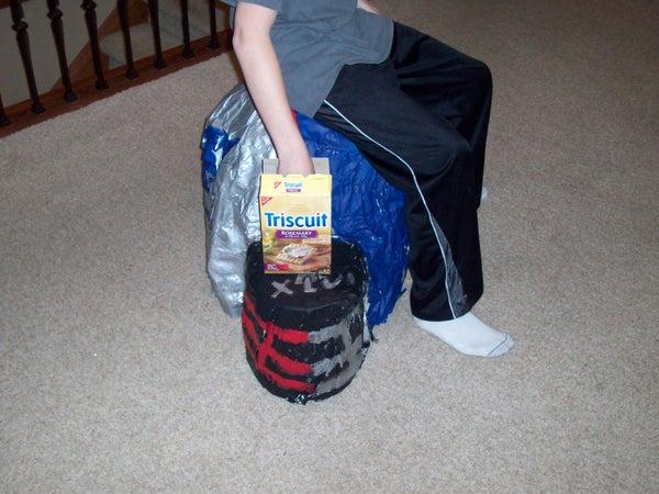 Giant Cardboard Helmet Chair
