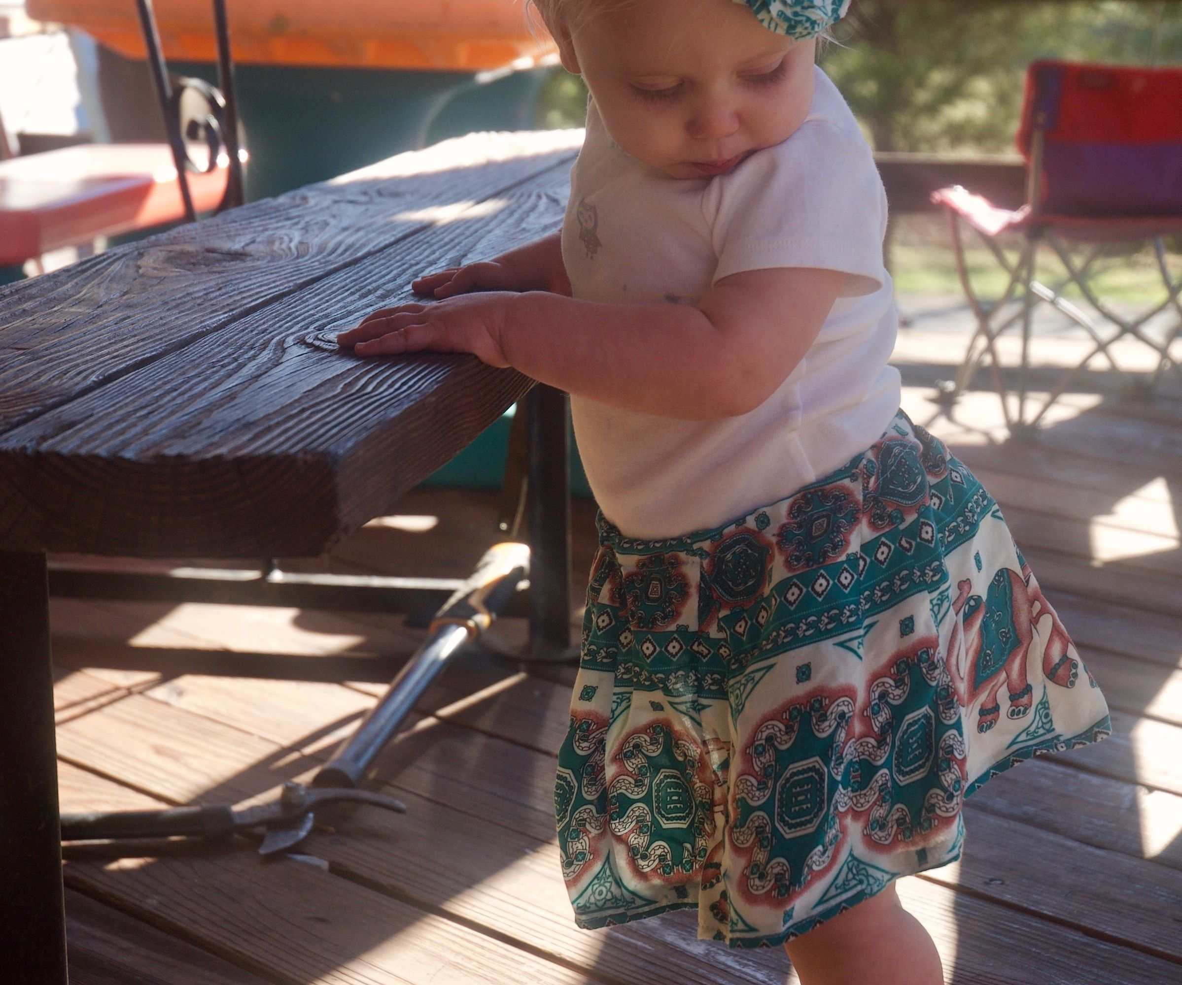 Simple Skirt for Baby