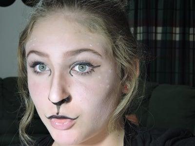 Easy Deer Halloween Makeup