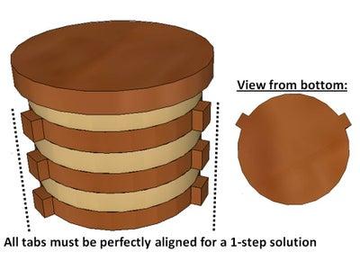 1 Step Solution:  Assembling the Inner (Hidden) Chamber