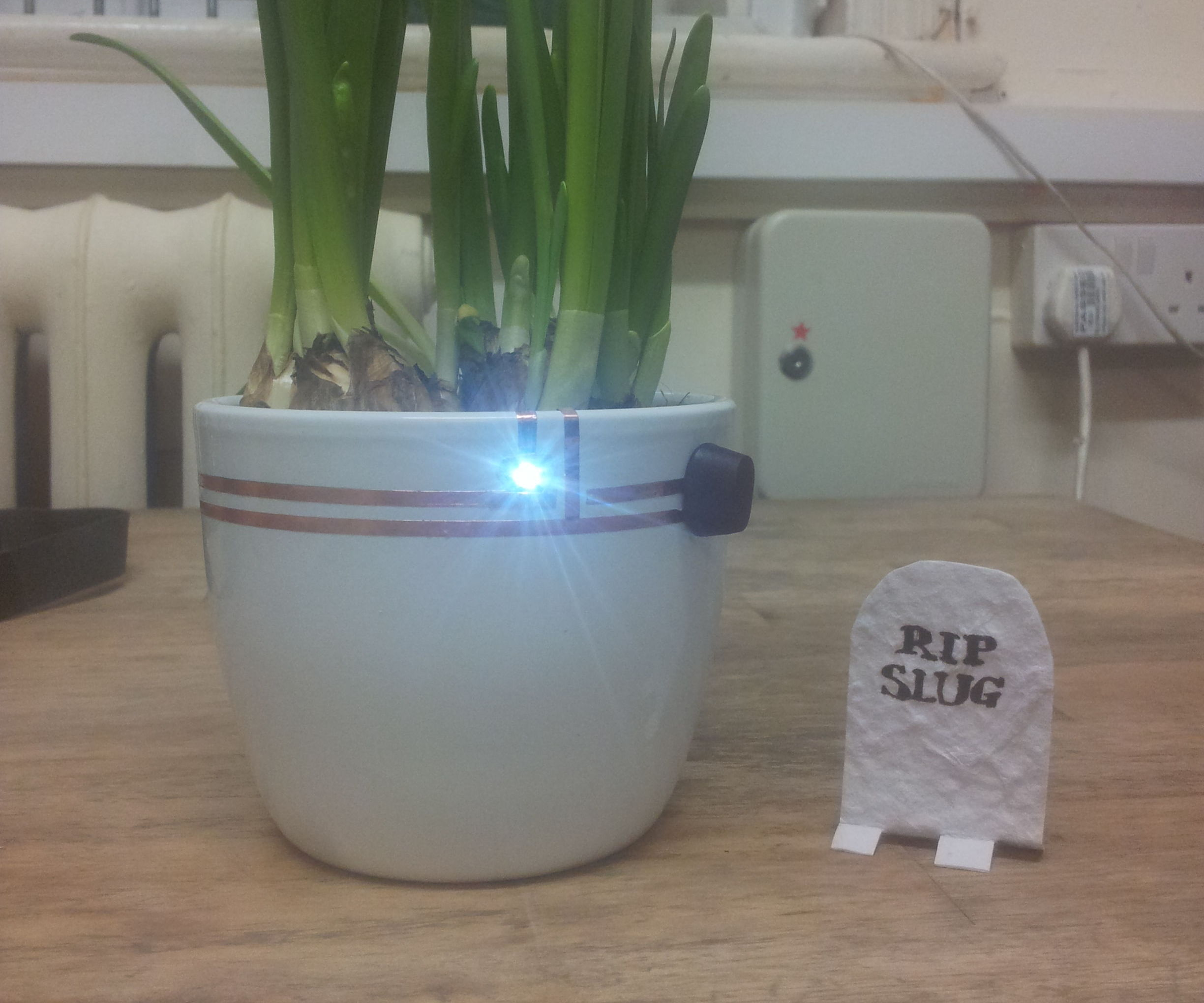 Slugitronics - protecting plants with chibitronics