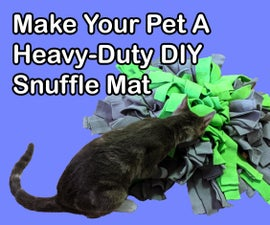 How to Make Your Pet a Durable Snuffle Mat