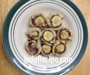 Oven Toasted Banana Roll-Ups
