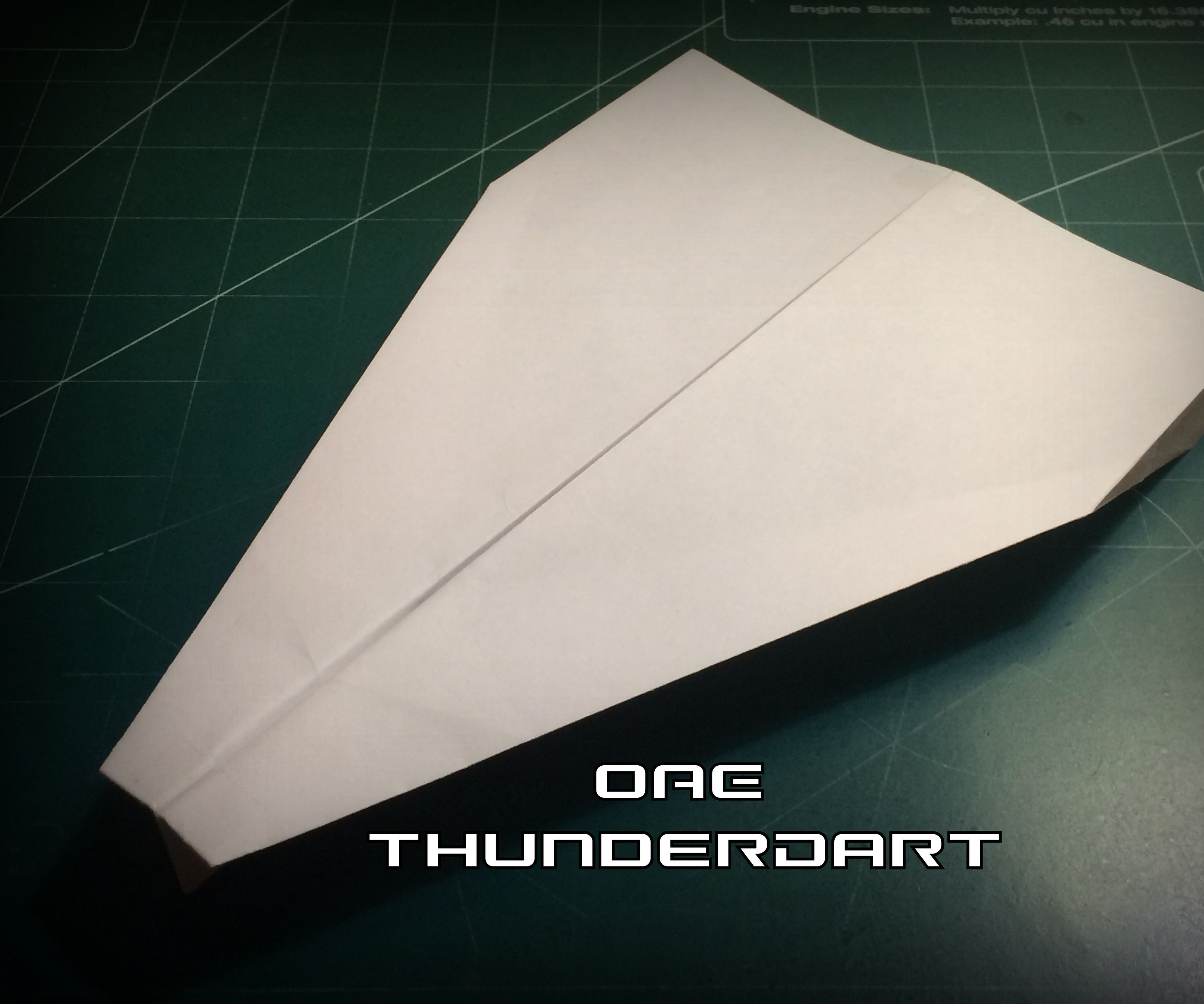 How to Make the ThunderDart Paper Airplane