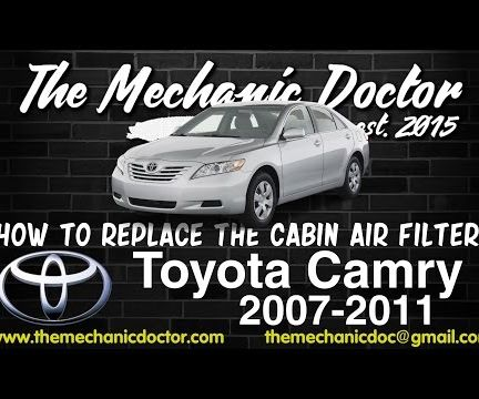 How to Replace the Cabin Air Filter : Toyota Camry 2007-2011