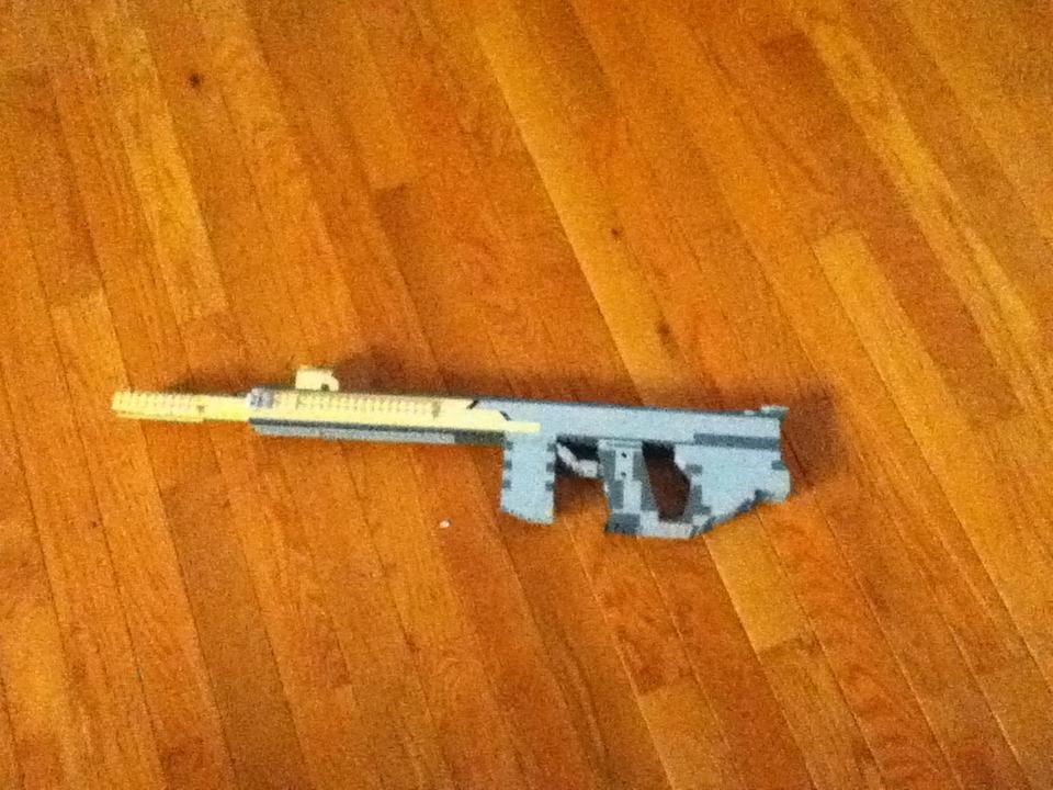 Futuristic Lego Assault Rifle