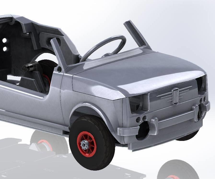 Tot Rod Car Plywood Laser Cut