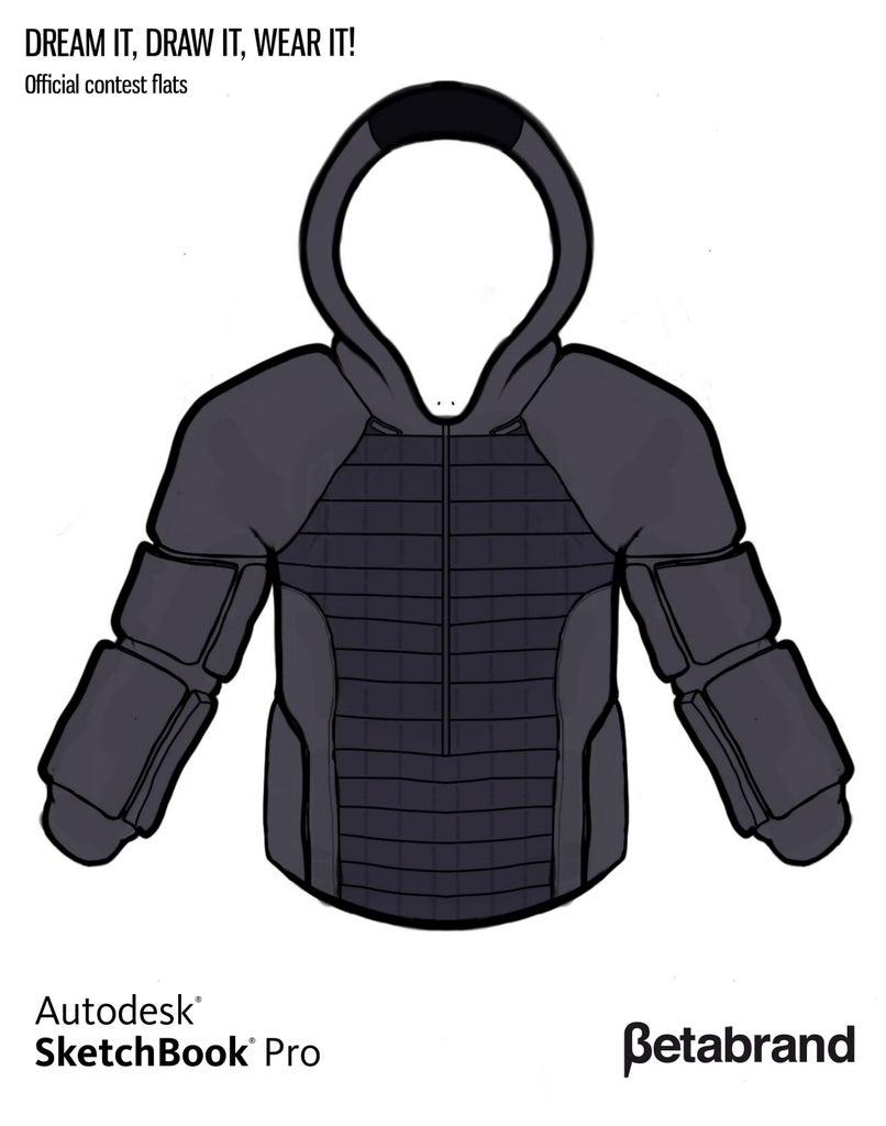 Detailed Description of Hoodie [Front]