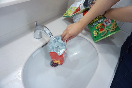 WASH THE WRAPPERS