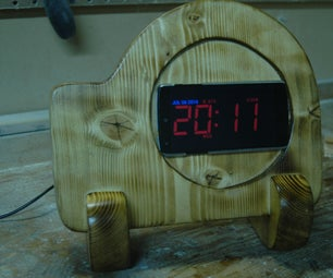 Wooden Cellphone Stand With Hidden Wireless Charging
