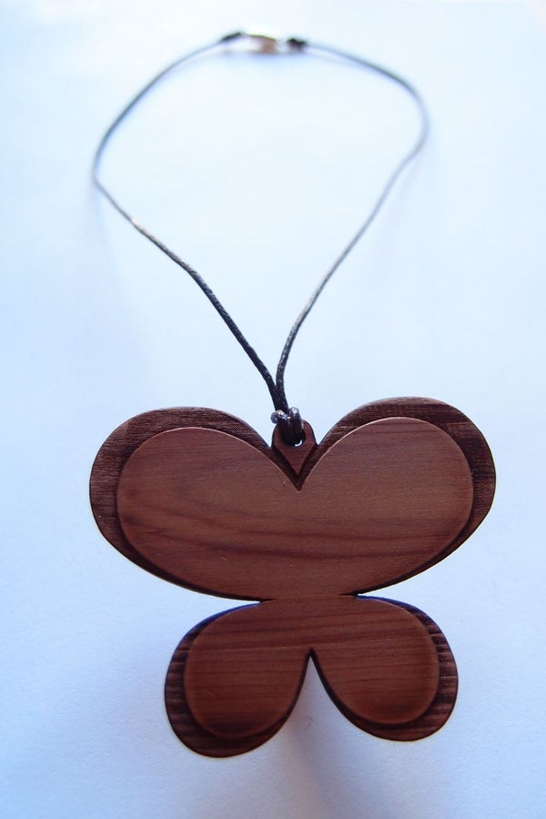 Laser-cut Butterfly Necklace