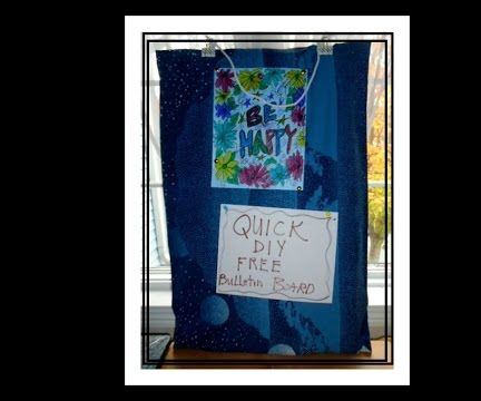 DIY FREE BULLETIN BOARD, DORM HACKS