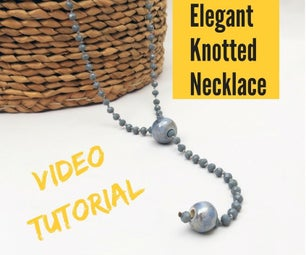 DIY Video Tutorial Elegant Knotted Bead Necklace