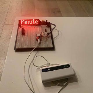 ESP32 Scrolling WordClock on LED Matrix