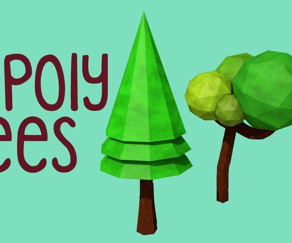 Low Poly Trees - Cinema 4D