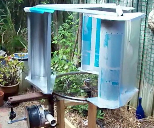$30 Vertical Axis Wind Turbine From Scrap Materials