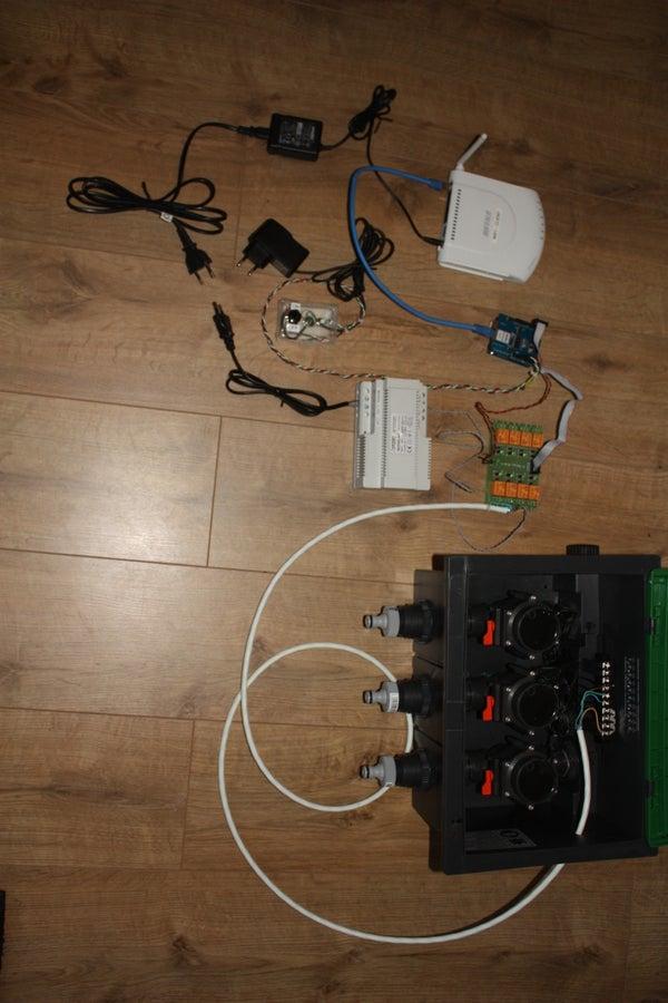 Arduino Sprinkler Valves + Wifi + Twitter