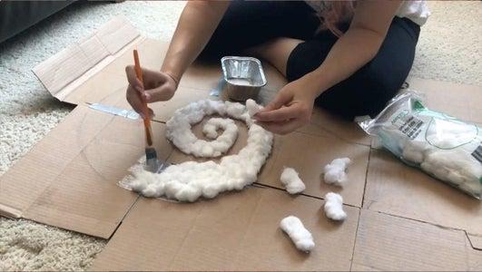 Gluing the Cotton Layer & Paper Maché