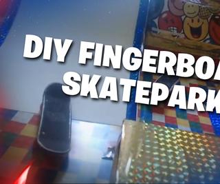 Fingerboard Skate Park and Car Race for Kids DIY