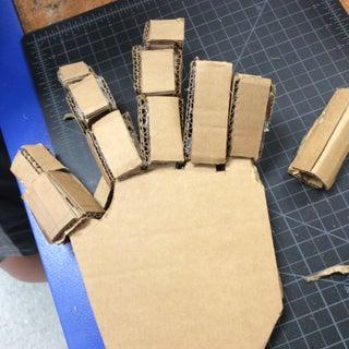 Detailed Cardboard Hand