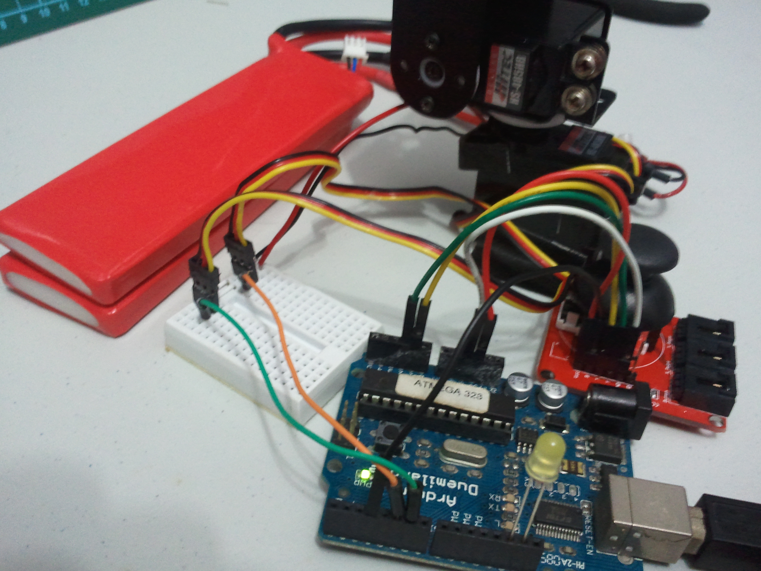Arduino Servo Dual Mode Control - Pan/Tilt with Joystick